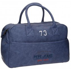 Bolsa de viaje 32x50x19 cm en Piel Sintética Pepe Jeans Jack Azul