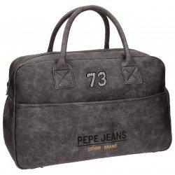 Bolsa de viaje 32x50x19 cm en Piel Sintética Pepe Jeans Jack Gris
