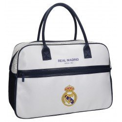 Bolsa de viaje 32x49x19 cm en Piel Sintética Real Madrid White