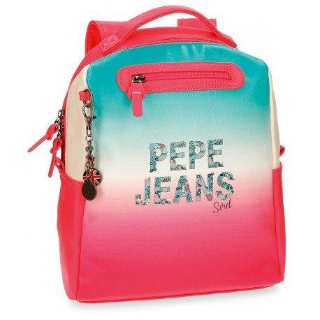 Mochila Pepe Jeans Piel Sintética 33x25x13 cm Nicole Rosa