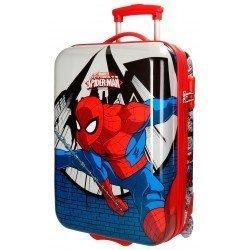 Maleta de cabina 55x36x20 cm Rígida 2 ruedas Spiderman Comic