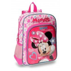 Mochila Minnie Mouse Microfibra 29x38x12 cm Fabulous Rosa