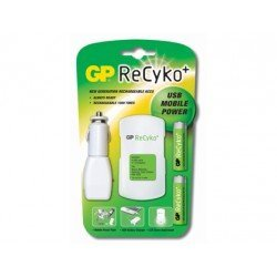 Cargador de pilas Recyko movil power 2-2,5horas pack con 2 pilas AA Recyko