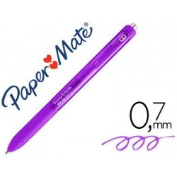 Boligrafo Paper Mate Inkjoy Retractil Gel 0,7 mm Color Morado
