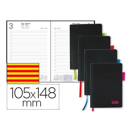 Agenda 2018 Encuadernada Sifnos Dia pagina Catalan DIN A6 Colores surtidos Liderpapel