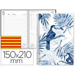 Agenda 2018 Espiral Chania Dia pagina Catalan DIN A5 Blanca Liderpapel