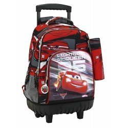 CARTERA ESCOLAR SAFTA CON CARRO CARS 3 320X210X450 MM