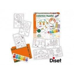 Juego infantil a partir de 3 años colorea con tu huella Diset