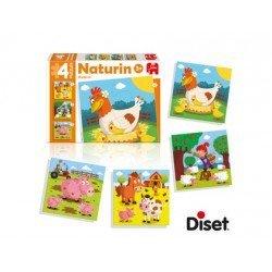 Puzzle Naturin granja a partir de 3 años Diset