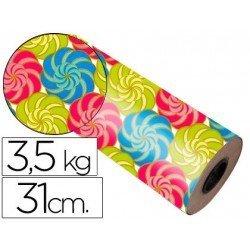 Bobina papel tipo verjurado Impresma 31 cm 3,5 kg star 7033