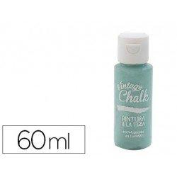 Pintura Acrilica Vintage Chalk de Efecto Tiza Color Agua Marina 60 ml Chalk Paint