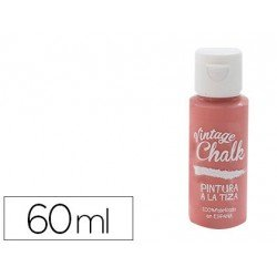 Pintura Acrilica Vintage Chalk de Efecto Tiza Color Rojo Granada 60 ml Chalk Paint
