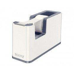 Portarollos sobremesa Leitz Wow Plastico para cinta de 33m color Blanco