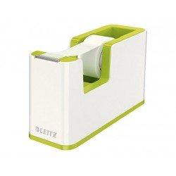 Portarollos sobremesa Leitz Wow Plastico para cinta de 33m color Verde