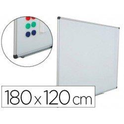 Pizarra Blanca Rocada Acero Vitrificado Magnética marco 120x180 cm