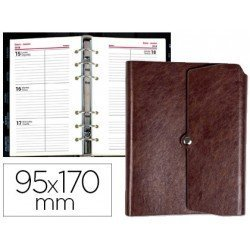 Agenda 2018 Anillas Tinde Semana Vista 96X170 mm marron Liderpapel