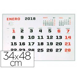 Calendario 2018 de Pared 34x48 cm marca Liderpapel