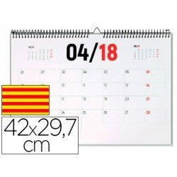Calendario 2018 de Pared Catalan 42x29,7 cm marca Liderpapel