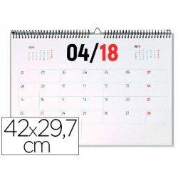 Calendario 2018 de Pared 42x29,7 cm marca Liderpapel
