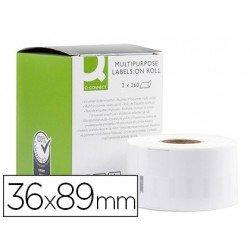 Etiqueta Adhesiva Q-Connect KF18537 Compatible Dymo 36x89 mm Caja de 520 uds