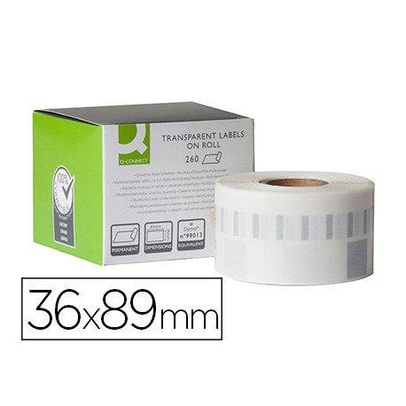 Etiqueta Adhesiva Q-Connect KF18538 Compatible Dymo 36x89 mm Caja de 260 uds