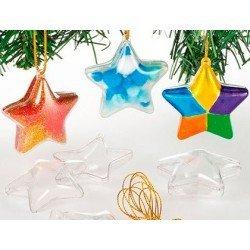 Estrella Acrilica transparente hilo 5 cm