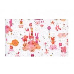 Papel Regalo Arguval Turnowsky 50x70cm de Animales Rosas