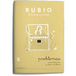 Cuaderno Rubio Problemas nº 8 Sumar llevando y restar sin llevar