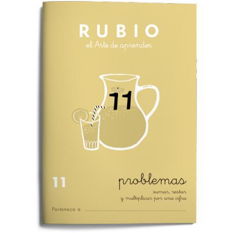 Cuaderno Rubio Problemas nº 11 Sumar, restar y multiplicar por una cifra