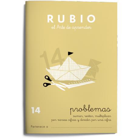 Cuaderno Rubio Problemas nº 14 Sumar, restar, multiplicar por varias cifras y dividir por una cifra