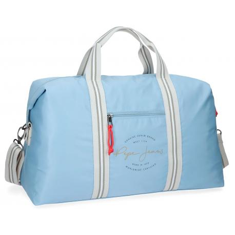 Bolsa de viaje 51x30x20 cm de Poliéster Pepe Jeans Yoga Azul