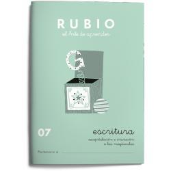 Cuaderno Rubio Escritura nº 07 Recapitulación e iniciación a las mayúsculas