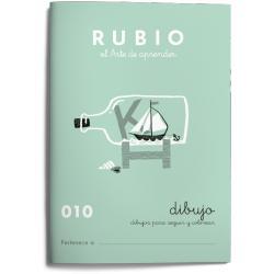 Cuaderno Rubio Escritura nº 010 Dibujos para seguir y colorear