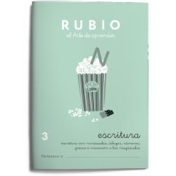 Cuaderno Rubio Escritura nº 3 Escritura con minúsculas, dibujos, números, grecas e iniciación a las mayúsculas