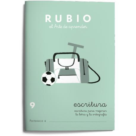 Cuaderno Rubio Escritura nº 9 Escritura para mejorar la letra y la ortografía con letra continua