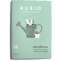 Cuaderno Rubio Escritura nº 10 Escritura para mejorar la letra y la ortografía con letra continua