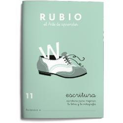 Cuaderno Rubio Escritura nº 11 Escritura para mejorar la letra y la ortografía con letra continua