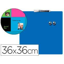Pizarra Azul Magnetica sin marco 36x36 cm Rexel