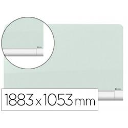 Pizarra Blanca Nobo Diamond Cristal Magnetica 188,3x105,3 cm