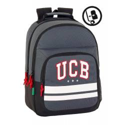 CARTERA ESCOLAR SAFTA BENETTON BOY MOCHILA DOBLE ADAPTABLE A CARRO 320X420X160 MM