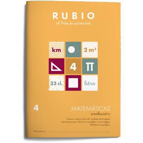 Cuaderno Rubio Matemáticas nº 4 Sistema métrico decimal: medidas de longitud, capacidad y peso