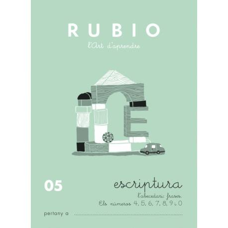 Cuaderno Rubio Escriptura nº 05 Abecedario, frases y números en Catalán