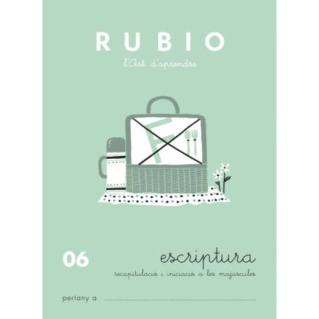 Cuaderno Rubio Escriptura nº 06 Recapitulación e iniciación de Mayúsculas en Catalán