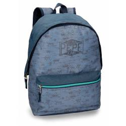 Mochila escolar Pepe Jeans 42x31x17,5cm de Poliéster Pierce adaptable a carro