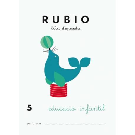 Cuaderno Rubio Educació Infantil nº 5 Desarrollo motriz en Catalán