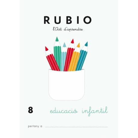 Cuaderno Rubio Educació Infantil nº 8 Desarrollo motriz en Catalán