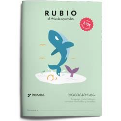 Cuaderno Rubio Vacaciones 5º Primaria