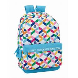 CARTERA ESCOLAR SAFTA BENETTON GEOMETRIC MOCHILA 300X140X460 MM