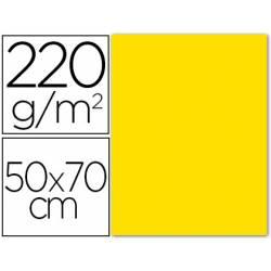 Cartulina Lisa y Rugosa Liderpapel Amarillo 50x70 cm 220 gr