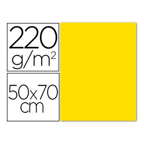 Cartulina Liderpapel Amarillo 50x70 cm 220 gr Lisa y Rugosa